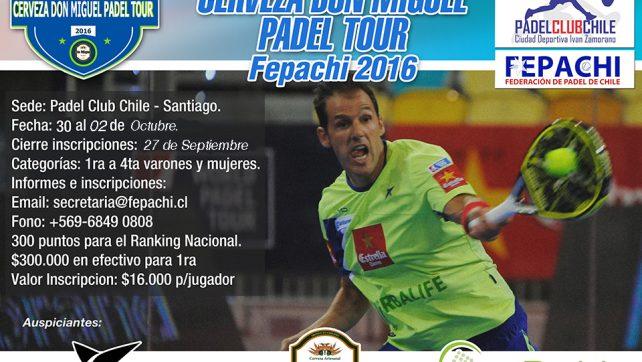 XVII Fecha cerveza Don Miguel Padel Tour 2016